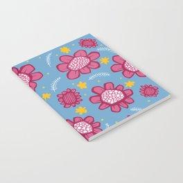 Pop Flowers pink Notebook