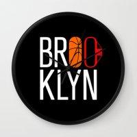 brooklyn Wall Clocks featuring Brooklyn by David Bastidas