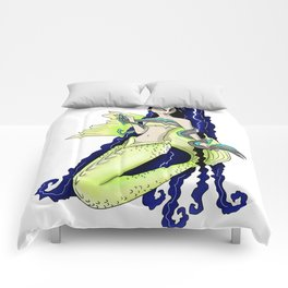 Neon Green Asian Mermaid Comforters