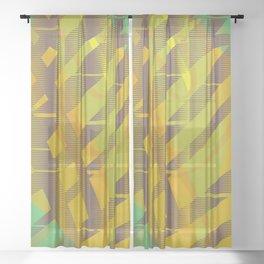 Avocado Sheer Curtain