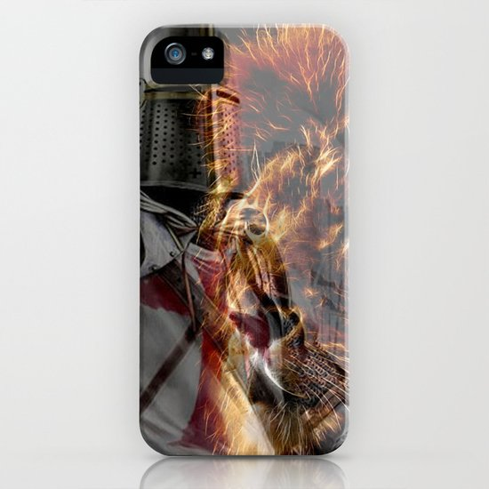 Templar Knight and Lion iPhone Case