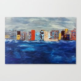 City Near The Sea Canvas Print