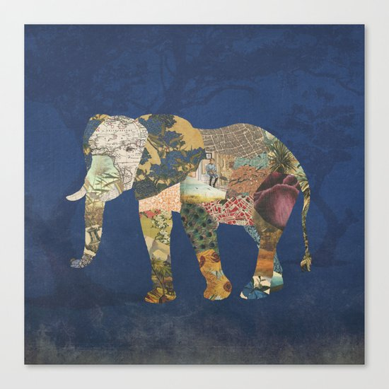 Elephant - The Memories of an Elephant Canvas Print