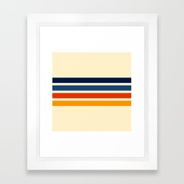 Katahide - Classic Retro Stripes Framed Art Print