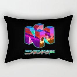 Nintendo 64 Vaporwave Rectangular Pillow