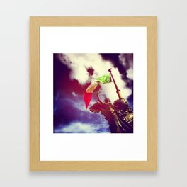 The angel and the flag Framed Art Print