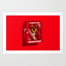 In case of pigs... Art Print
