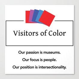 Visitors of Color Canvas Print