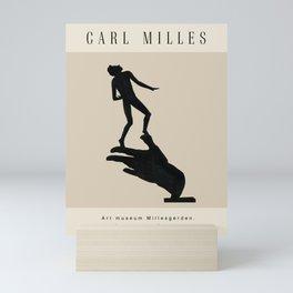 Modern poster -The Swedish sculptor Carl Milles-Hand of God. Mini Art Print