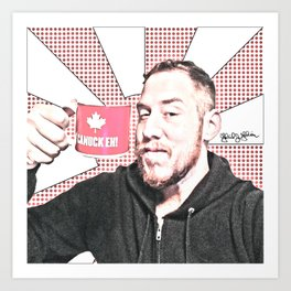 Canuck Eh? The Artist and his coffee Art Print
