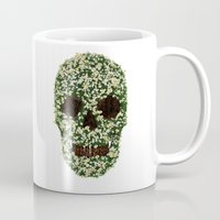pushing daisies Mugs featuring Pushing up Daisies by Luke Dwyer Design