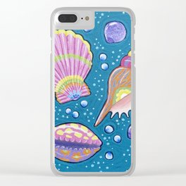My Seashell Collection Clear iPhone Case