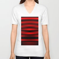 discount V-neck T-shirts featuring Illusion 1 by Roxana Jordan