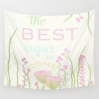 be happy Wall Tapestries featuring HaPPy by Monika Strigel
