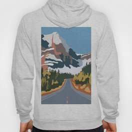 On the way to snowy mountains Hoody