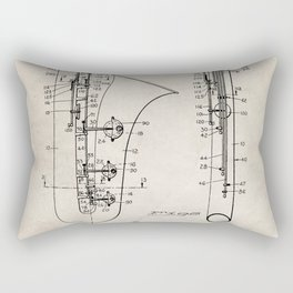 Selmer Saxophone Patent - Saxophone Art - Antique Rectangular Pillow