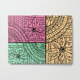 Floreal doodles Metal Print