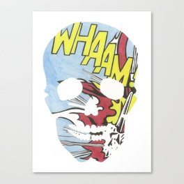 Whaam Skull Canvas Print