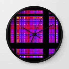 Unicorn Plaid Squares Wall Clock
