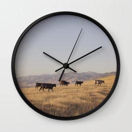 Western Cattle Art Wall Clock