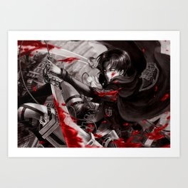 levi in monochrome Art Print