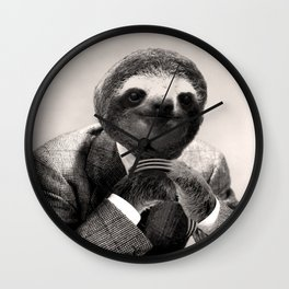 Gentleman Sloth #3 Wall Clock