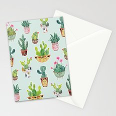 Cactus Pot Personalities Stationery Cards