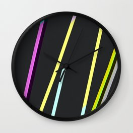 thin strips on black Wall Clock
