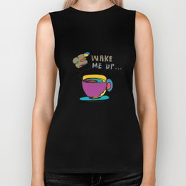 coffee first Biker Tank