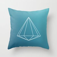 geometry Throw Pillows featuring Geometry by Geometry