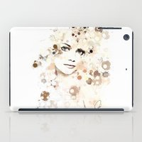 emma stone iPad Cases featuring Emma Stone by Rene Alberto