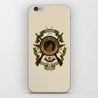 bucky barnes iPhone & iPod Skins featuring Sgt Bucky Barnes (green) by emptystarships