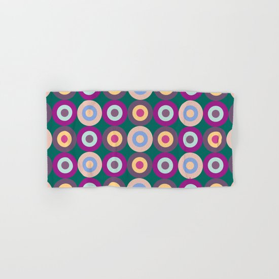 Seamless Colorful Circle Pattern Hand & Bath Towel