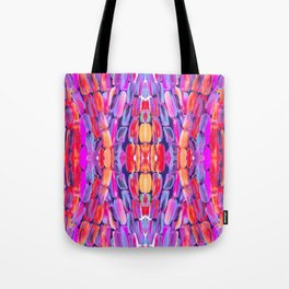 Ultraviolet Purple Sugarcane Pattern Tote Bag