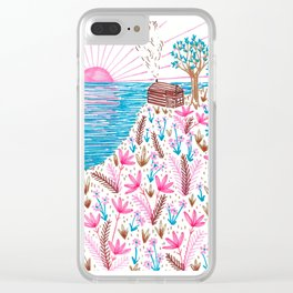 Cliff Top Cabin Clear iPhone Case