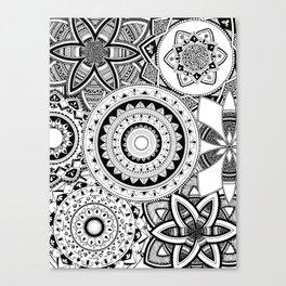 Mandalas in a lace Canvas Print