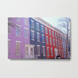 Colourful Streets Greenwich Village, NYC Metal Print