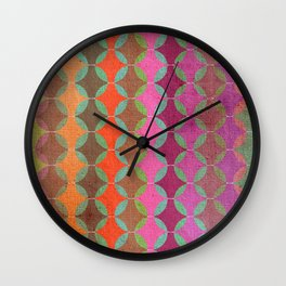 Colour Harmonies Wall Clock