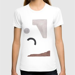 Geometric Print, Watercolor Art, Wall Decor, Abstract Print, Mini T-shirt