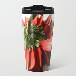 Red and White Travel Mug