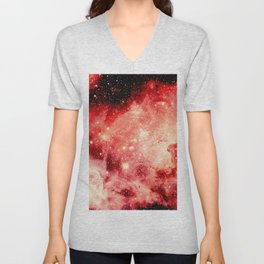 Red Carina Nebula Unisex V-Neck