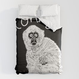 Monkey (Black and White) Comforters