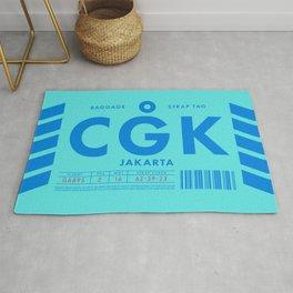 Luggage Tag D - CGK Jakarta Indonesia Rug