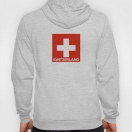 Switzerland country flag name text swiss Hoody