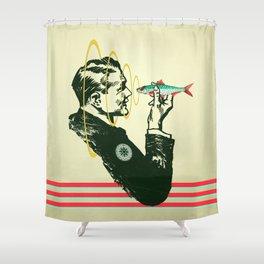 Hypnotic sardine  Shower Curtain