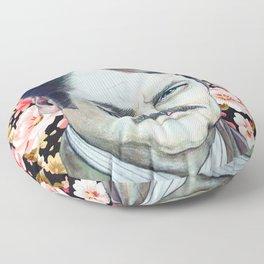 Ron Swanson - Floral Floor Pillow