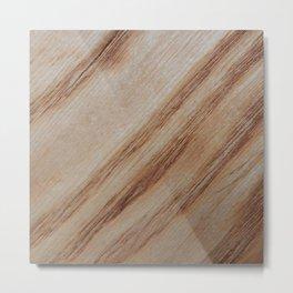 Unique beautiful wood veneer design Metal Print