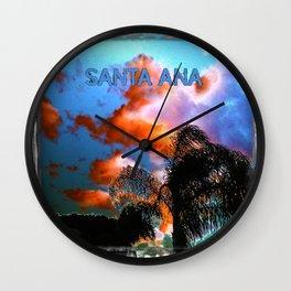 Santa Ana (The Dark Side of Art) by Jeronimo Rubio Photography 2016 Wall Clock