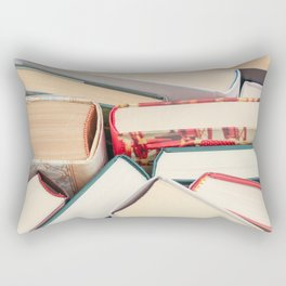 Book Stacks Rectangular Pillow