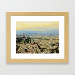 Above Paris Framed Art Print